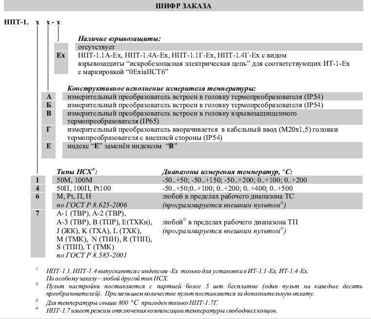 Схема подключения НПТ-1.