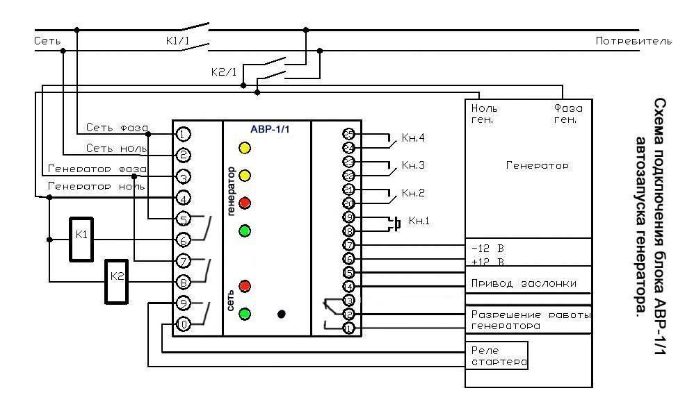 Схема авр для генератора с системой запуска фото 918
