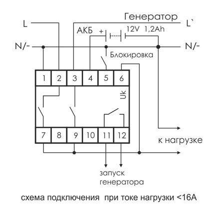 Бензиновая электростанция схему