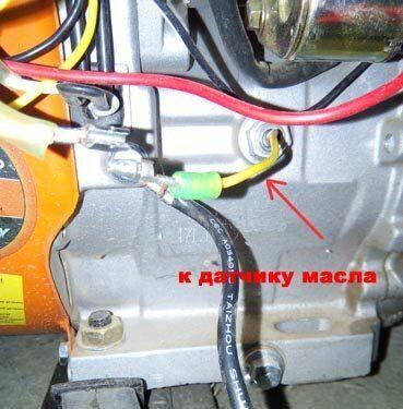 Подключение к датчику масла генератра для управления АВР с автозапуском